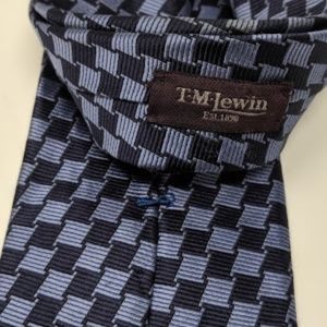 T.M. Lewin silk tie made in England
